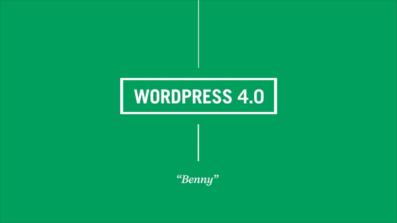 wordpress-4.0-benny